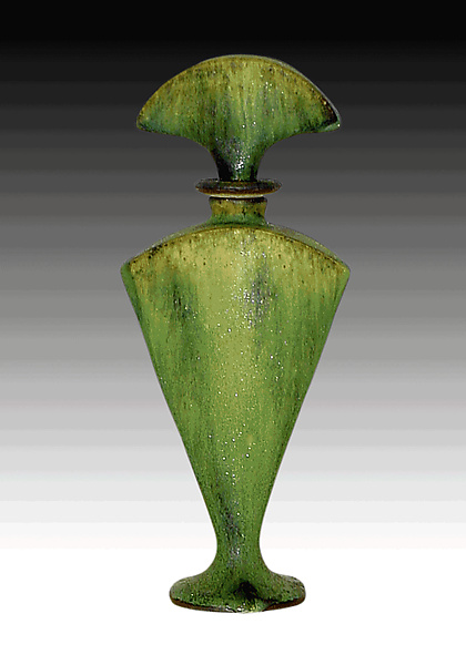 Green perfume Bottle - Ceramic Perfume Bottle - by Daniel Slack