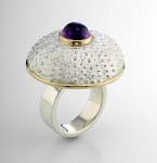Silver & Stone Ring by Hratch Babikian