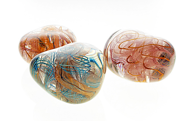 Flow Stone Paperweight - Art Glass Paperweight - by Cal Breed