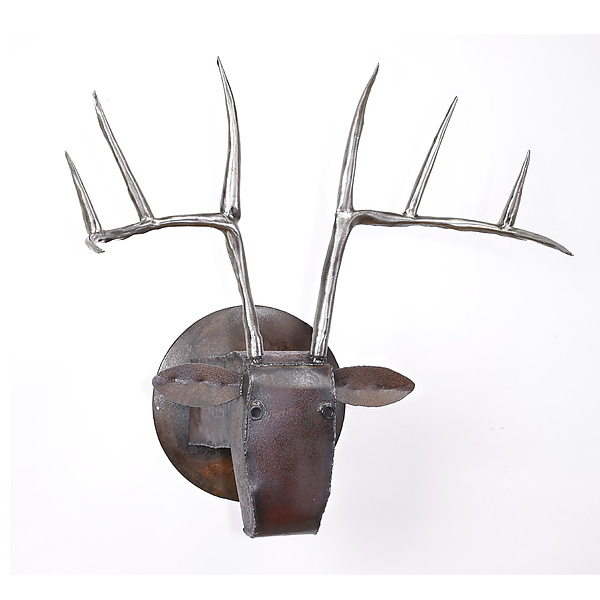 Large Deer Head - Metal Wall Art - by Ben Gatski
