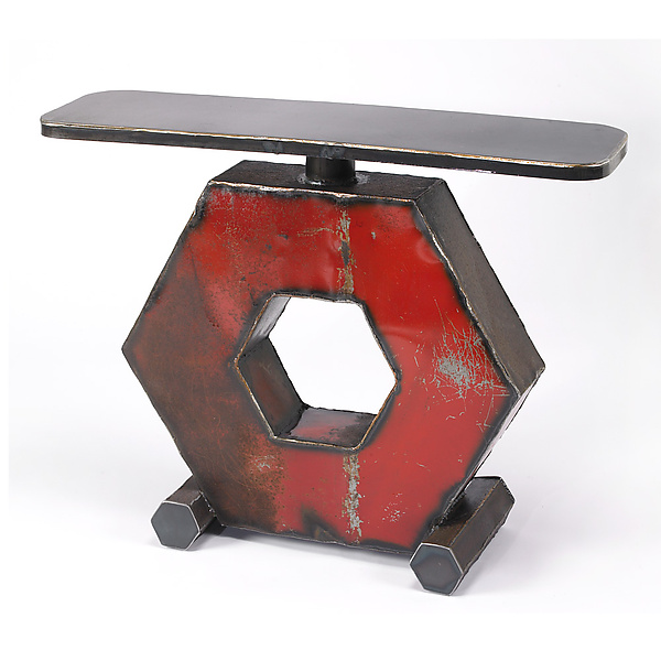 Hexagon Console Table - Metal Console Table - by Ben Gatski
