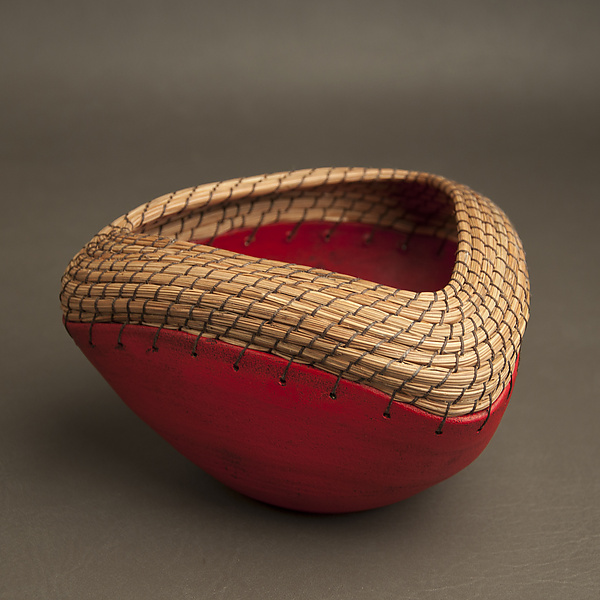 Triangle Bowl in Red - Ceramic Bowl - by Hannie Goldgewicht