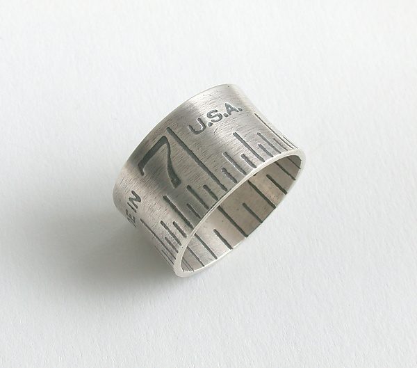 Ruler Ring - Silver Ring - by Connie Verrusio