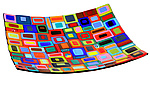 Art Glass Platter by Helen  Rudy