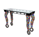 Mosaic Console Table by Nancy Pollock