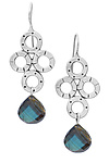 Silver & Stone Earrings by Jodi Brownstein