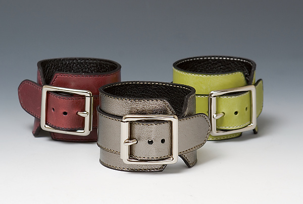 Wide Leather Cuff - Leather Cuff - by Jutta Neumann