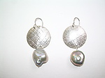 Silver & Pearl Earrings by Diana Lovett