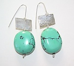 Silver & Stone Earrings by Diana Lovett