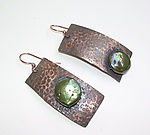 Copper & Pearl Earrings by Diana Lovett