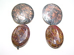 Copper & Stone Earrings by Diana Lovett