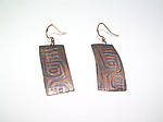 Copper Earrings by Diana Lovett
