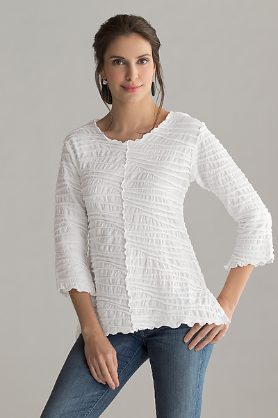 Fiore Seamed Tunic - Knit Top - by Carol Turner