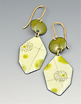 Gold & Enamel Earrings by Reiko Miyagi