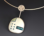 Silver & Enamel Necklace by Reiko Miyagi