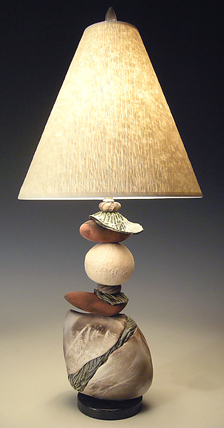 Jacque Frost - Ceramic Table Lamp - by Jan Jacque