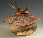 Ceramic & Wood Sculpture by Jan Jacque