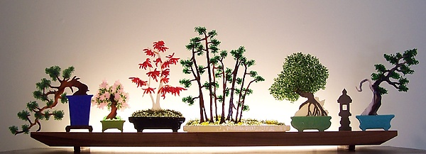 Bonsai - Art Glass Sculpture - by Bernie Huebner and Lucie Boucher
