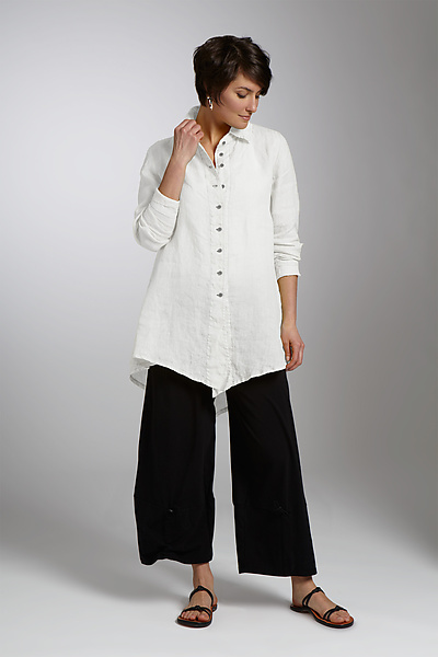 Jackson Linen Big Shirt - Linen Shirt - by Cynthia Ashby