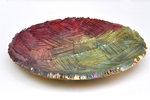 Art Glass Platter by Mira Woodworth