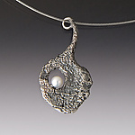 Silver & Pearl Necklace by Aleksandra Vali