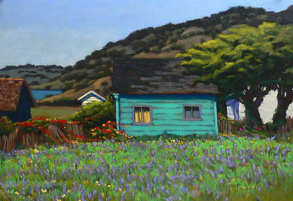 Coastal Lupine - Pastel Painting - by Victoria Ryan