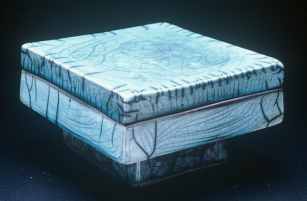 Covered Box No. 22 - Ceramic Box - by Eileen Young