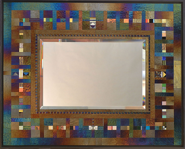 Colarino - Art Glass Mirror - by Thomas Meyers
