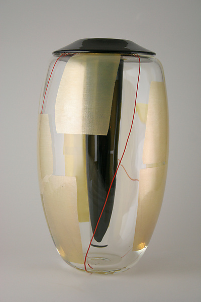 Tall Usubata Vase - Art Glass Vase - by Richard S. Jones