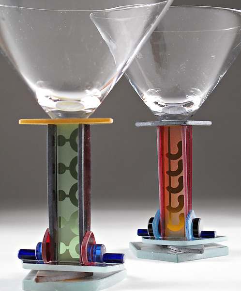 Novellino Martini - Art Glass Goblet - by George Ponzini