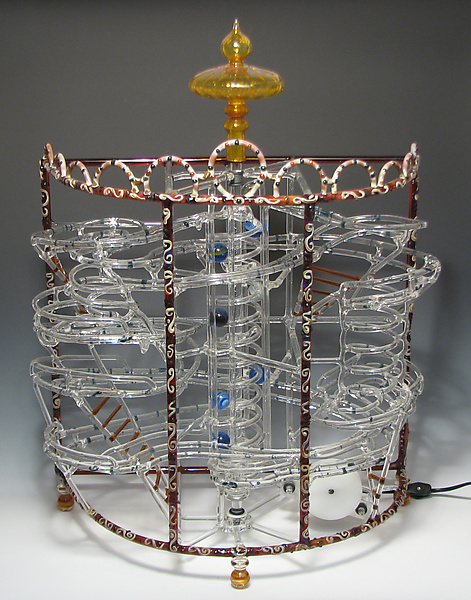Valkor B Series Marble Machine - Art Glass Sculpture - by Bandhu Scott Dunham