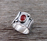 Silver & Stone Ring by Delias Thompson