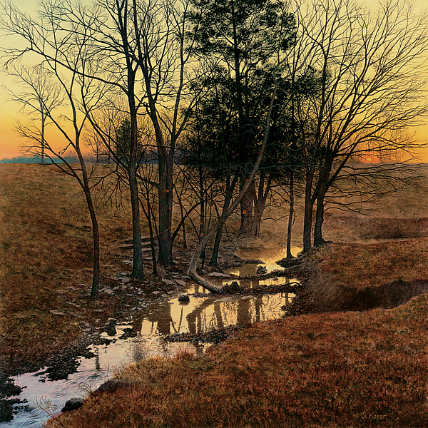 Sunrise Creek - Giclee Print - by Steven Kozar