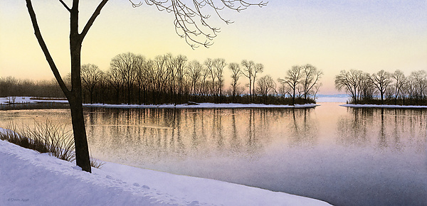 Open Water-Winter Sunset - Giclee Print - by Steven Kozar