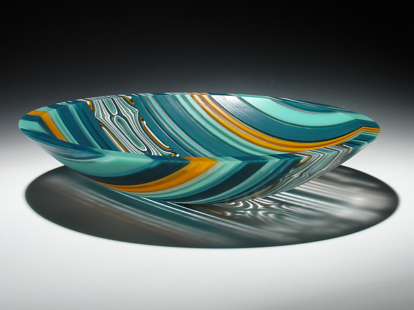 River's Edge Bowl - Art Glass Bowl - by Patti & Dave Hegland