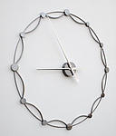 Metal Clock by Julie Girardini