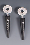 Silver & Wood Earrings by Suzanne Linquist