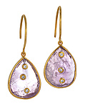 Gold & Stone Earrings by Diana Widman