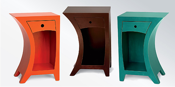 Side Table in Vibrant Colors - Wood Side Table - by Vincent Leman