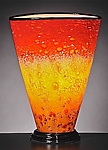 Art Glass Table Lamp by Curt Brock
