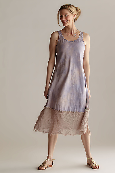 Silk & Linen Slip Dress - Silk & Linen Dress - by Robin Kaplan