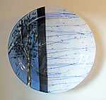 Art Glass Platter by Alice Benvie Gebhart