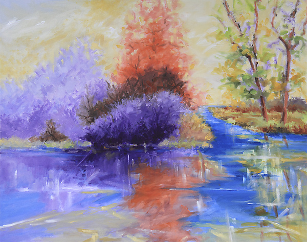 Radiant Dream - Oil Painting - by Judy Hawkins