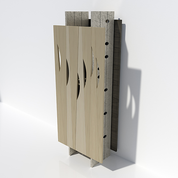 Meadow Cabinet 2 - Wood Cabinet - by John Nalevanko