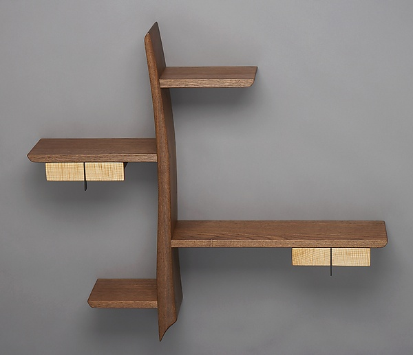 Kanji - Wood Shelf - by Brian Hubel