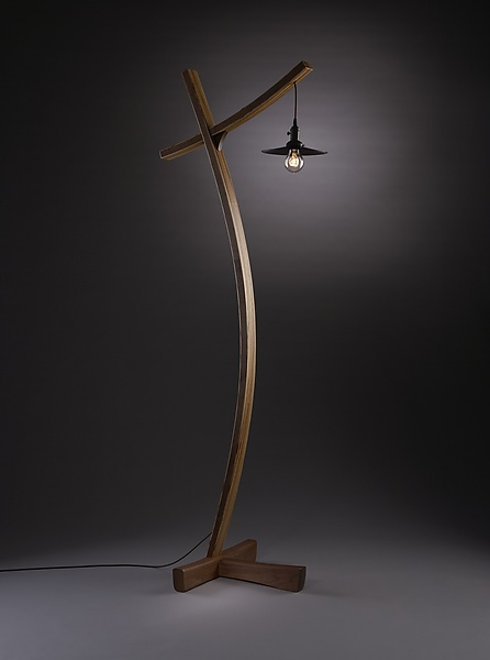 Aglow - Wood Floor Lamp - by Brian Hubel