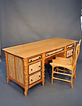 Wood Desk & Chair by John Wesley Williams