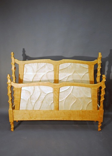 Sculpted Bed - Wood Bed - by John Wesley Williams