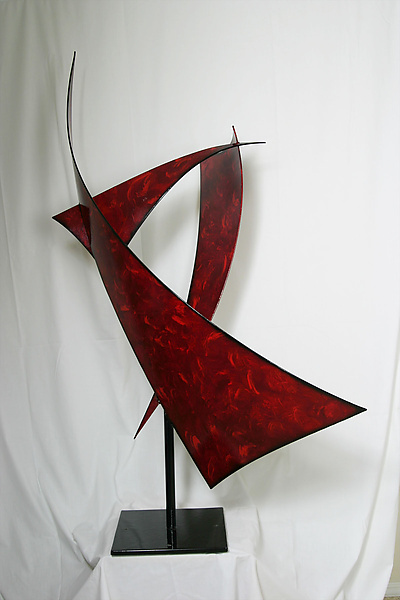 Sailing - Metal Sculpture - by Cheryl Williams