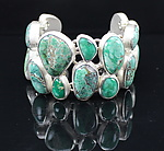 Silver & Stone Bracelet by Pamela Huizenga 
